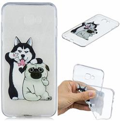 Selfie Dog Clear Varnish Soft Phone Back Cover for Samsung Galaxy J4 Plus(6.0 inch)