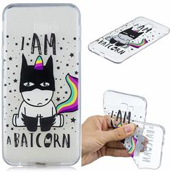 Batman Clear Varnish Soft Phone Back Cover for Samsung Galaxy J4 Plus(6.0 inch)