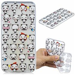 Mini Panda Clear Varnish Soft Phone Back Cover for Samsung Galaxy J4 Plus(6.0 inch)
