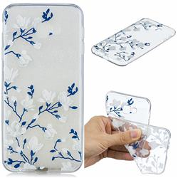 Magnolia Flower Clear Varnish Soft Phone Back Cover for Samsung Galaxy J4 Plus(6.0 inch)