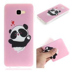 Heart Cat IMD Soft TPU Cell Phone Back Cover for Samsung Galaxy J4 Plus(6.0 inch)