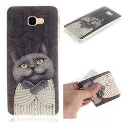 Cat Embrace IMD Soft TPU Cell Phone Back Cover for Samsung Galaxy J4 Plus(6.0 inch)