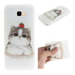 Cute Tomato Cat IMD Soft TPU Cell Phone Back Cover for Samsung Galaxy J4 Plus(6.0 inch)