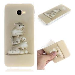 Three Squirrels IMD Soft TPU Cell Phone Back Cover for Samsung Galaxy J4 Plus(6.0 inch)