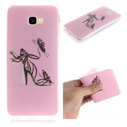 Butterfly High Heels IMD Soft TPU Cell Phone Back Cover for Samsung Galaxy J4 Plus(6.0 inch)