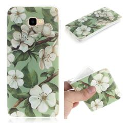 Watercolor Flower IMD Soft TPU Cell Phone Back Cover for Samsung Galaxy J4 Plus(6.0 inch)