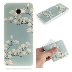 Magnolia Flower IMD Soft TPU Cell Phone Back Cover for Samsung Galaxy J4 Plus(6.0 inch)