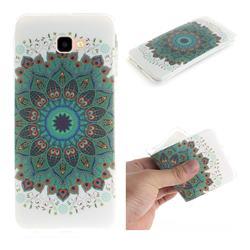 Peacock Mandala IMD Soft TPU Cell Phone Back Cover for Samsung Galaxy J4 Plus(6.0 inch)