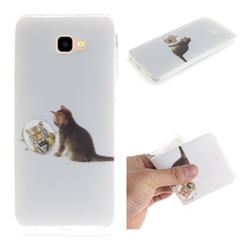 Cat and Tiger IMD Soft TPU Cell Phone Back Cover for Samsung Galaxy J4 Plus(6.0 inch)