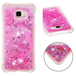 Dynamic Liquid Glitter Sand Quicksand TPU Case for Samsung Galaxy J4 Plus(6.0 inch) - Pink Love Heart
