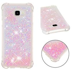 Dynamic Liquid Glitter Sand Quicksand TPU Case for Samsung Galaxy J4 Plus(6.0 inch) - Silver Powder Star