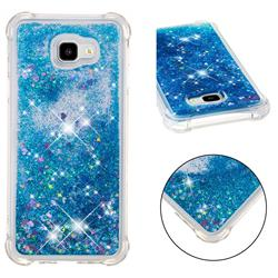 Dynamic Liquid Glitter Sand Quicksand TPU Case for Samsung Galaxy J4 Plus(6.0 inch) - Blue Love Heart
