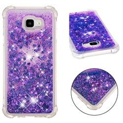 Dynamic Liquid Glitter Sand Quicksand Star TPU Case for Samsung Galaxy J4 Plus(6.0 inch) - Purple