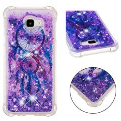 Retro Wind Chimes Dynamic Liquid Glitter Sand Quicksand Star TPU Case for Samsung Galaxy J4 Plus(6.0 inch)