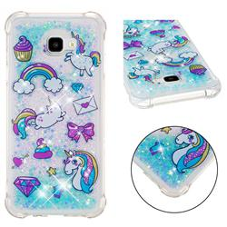 Fashion Unicorn Dynamic Liquid Glitter Sand Quicksand Star TPU Case for Samsung Galaxy J4 Plus(6.0 inch)