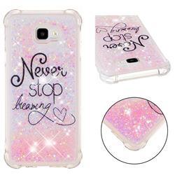 Never Stop Dreaming Dynamic Liquid Glitter Sand Quicksand Star TPU Case for Samsung Galaxy J4 Plus(6.0 inch)