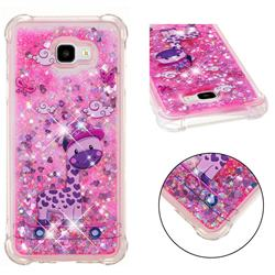 Skateboard Deer Dynamic Liquid Glitter Sand Quicksand Star TPU Case for Samsung Galaxy J4 Plus(6.0 inch)