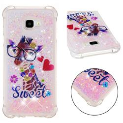 Sweet Deer Dynamic Liquid Glitter Sand Quicksand Star TPU Case for Samsung Galaxy J4 Plus(6.0 inch)