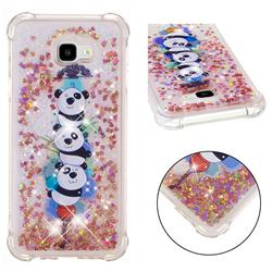 Three Pandas Dynamic Liquid Glitter Sand Quicksand Star TPU Case for Samsung Galaxy J4 Plus(6.0 inch)