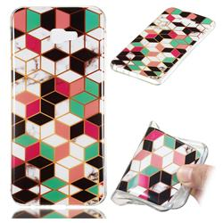 Three-dimensional Square Soft TPU Marble Pattern Phone Case for Samsung Galaxy J4 Plus(6.0 inch)