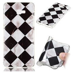 Black and White Matching Soft TPU Marble Pattern Phone Case for Samsung Galaxy J4 Plus(6.0 inch)