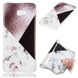 Black white Grey Soft TPU Marble Pattern Phone Case for Samsung Galaxy J4 Plus(6.0 inch)