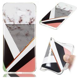 Pinstripe Soft TPU Marble Pattern Phone Case for Samsung Galaxy J4 Plus(6.0 inch)