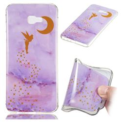 Elf Purple Soft TPU Marble Pattern Phone Case for Samsung Galaxy J4 Plus(6.0 inch)