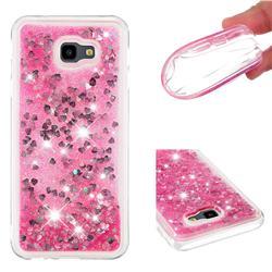 Dynamic Liquid Glitter Quicksand Sequins TPU Phone Case for Samsung Galaxy J4 Plus(6.0 inch) - Rose