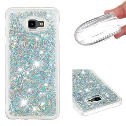 Dynamic Liquid Glitter Quicksand Sequins TPU Phone Case for Samsung Galaxy J4 Plus(6.0 inch) - Silver