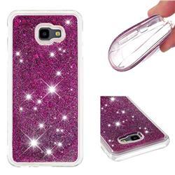 Dynamic Liquid Glitter Quicksand Sequins TPU Phone Case for Samsung Galaxy J4 Plus(6.0 inch) - Purple
