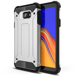 King Kong Armor Premium Shockproof Dual Layer Rugged Hard Cover for Samsung Galaxy J4 Plus(6.0 inch) - Technology Silver