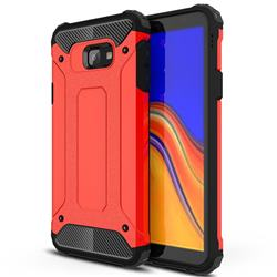 King Kong Armor Premium Shockproof Dual Layer Rugged Hard Cover for Samsung Galaxy J4 Plus(6.0 inch) - Big Red