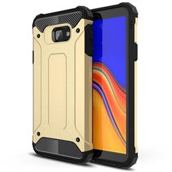 King Kong Armor Premium Shockproof Dual Layer Rugged Hard Cover for Samsung Galaxy J4 Plus(6.0 inch) - Champagne Gold
