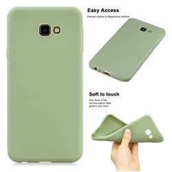 Soft Matte Silicone Phone Cover for Samsung Galaxy J4 Plus(6.0 inch) - Bean Green
