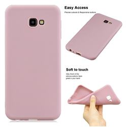 Soft Matte Silicone Phone Cover for Samsung Galaxy J4 Plus(6.0 inch) - Lotus Color