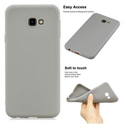 Soft Matte Silicone Phone Cover for Samsung Galaxy J4 Plus(6.0 inch) - Gray