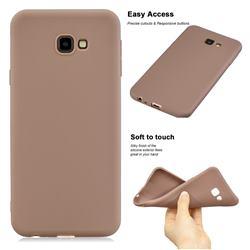 Soft Matte Silicone Phone Cover for Samsung Galaxy J4 Plus(6.0 inch) - Khaki