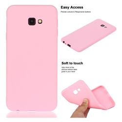 Soft Matte Silicone Phone Cover for Samsung Galaxy J4 Plus(6.0 inch) - Rose Red