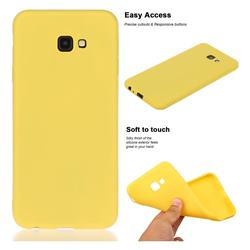 Soft Matte Silicone Phone Cover for Samsung Galaxy J4 Plus(6.0 inch) - Yellow