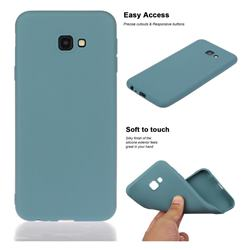 Soft Matte Silicone Phone Cover for Samsung Galaxy J4 Plus(6.0 inch) - Lake Blue