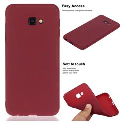 Soft Matte Silicone Phone Cover for Samsung Galaxy J4 Plus(6.0 inch) - Wine Red