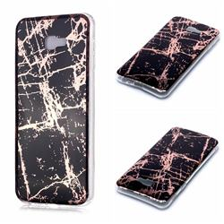 Black Galvanized Rose Gold Marble Phone Back Cover for Samsung Galaxy J4 Plus(6.0 inch)