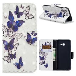 Flying Butterflies 3D Painted Leather Wallet Phone Case for Samsung Galaxy J4 Plus(6.0 inch)