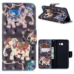 Totem Elephant 3D Painted Leather Wallet Phone Case for Samsung Galaxy J4 Plus(6.0 inch)