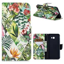 Banana Leaf 3D Painted Leather Wallet Phone Case for Samsung Galaxy J4 Plus(6.0 inch)