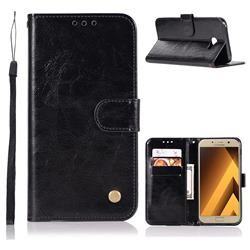 Luxury Retro Leather Wallet Case for Samsung Galaxy J4 Plus(6.0 inch) - Black