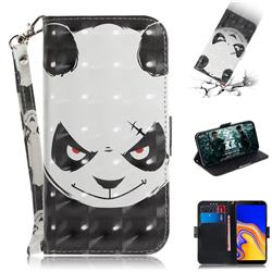 Angry Bear 3D Painted Leather Wallet Phone Case for Samsung Galaxy J4 Plus(6.0 inch)