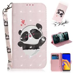 Heart Cat 3D Painted Leather Wallet Phone Case for Samsung Galaxy J4 Plus(6.0 inch)