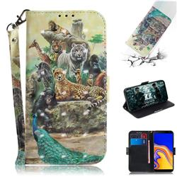 Beast Zoo 3D Painted Leather Wallet Phone Case for Samsung Galaxy J4 Plus(6.0 inch)